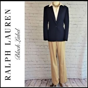 RALPH LAUREN BLACK LABEL Wool Stretch Trouser
